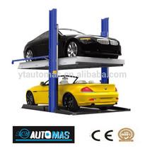 2 Post Hydraulic Car Parking Lift with one year warranty