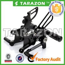 TARAZON Motorcycle Hot Sale CNC Billet Adjustable Footrest Rear Sets for CBR 600RR 09-13