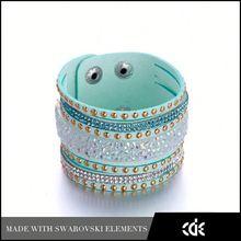 I love you to the moon and back Diamond Hot Sale Korean Velvet Crystal Bracelet