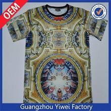 Fashion polyester dri fit men sublimation t shirt