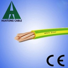 single core wire 0.75mm electrical cable green/yellow