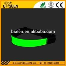 Best selling LED reflective men sport belts
