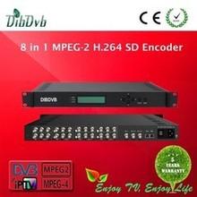 MPEG4 /MPEG2 SD digital catv headend 8 in 1 encoder