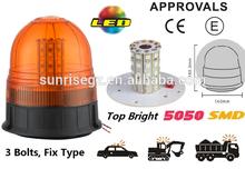 E-MARK SMD Flash Warning Light, ECE MARK 5050 SMD Warning Beacon (SR-BL-505SF-1) 3 Bolts Fix LED Beacon Light, 3 Functions