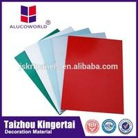 Alucoworld exterior wall finishing cladding aluminum composite sheet acp contruction material