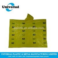 Lightweight Cheap Disposable Plastic Rain Poncho