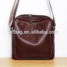 Retro business packet Leather Mens shoulder bag