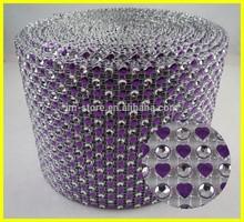 18 Rows Purple Sew-on Crystal Plastic Diamante Trim Wholesale