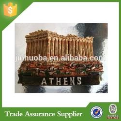Acropolis Parthenon Athens Greece 3D Poly Resin Fridge Magnet Supplier For Tourist