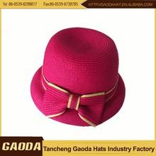Best seller bulk buy from china anti slip paper braid small size children snapback hat