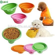 Foldable FDA silicone dog bowl sz wholesale dog product