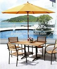 dubai furniture design outdoor round wood dining table set
