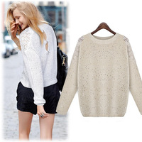 NEWEST STYLE HIGH FASHION SEQUINS WOMEN LONG SWEATER