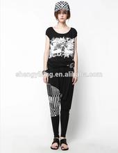 girls soft leisure t- shirt design wholesale