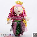 Lindo de pelúcia brinquedos princesa com a coroa, acessórios princesa brinquedos para meninas, hot girl fotos para crianças