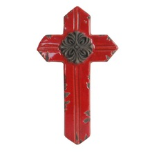 Ceramic wall cross for wall decoration, Religious ceramic wall crucifix, Hot selling handmade christian cross
