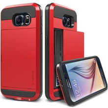 New Arrival Hard Armor Cover Case For Samsung Galaxy S6 Verus Case With Card Slots