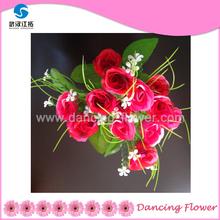 Artificial Rose wedding decoration car flowers (AF-54)