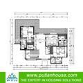 por encargo de wpc revestimiento de la pared modular bungalow residencial