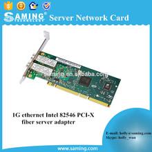 1g ethernet Intel 82546 PCI-X fiber server adapter