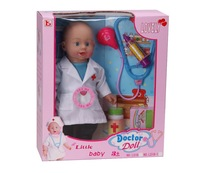 doctor trainning plastic silicone doll toy for children