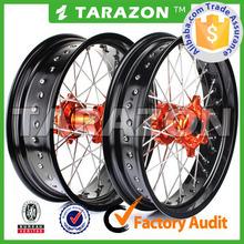 "3.5""X17"" & 5.0""X17"" Spoked CNC Aluminum Supermoto Wheel Sets For KTM Models"