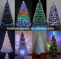 2015 new design hot selling optical fibre Christmas tree