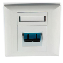 RJ45 RJ11 Single Information Outlet Faceplate For Sri Lanka