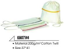 High quality cotton drawstring bag