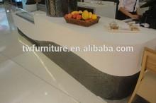 Coffee House Black and White Reception Desk Cashier Reception Desk