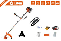 52cc heavy duty 2 in 1 petrol strimmer, grass trimmer, brush cutter, 3T blade