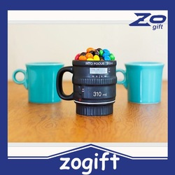 ZOGIFT 2015 new style cool design Camera Lens Cup Ceramic Camera Cup