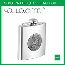 2015 hot selling manufacturer custom usa hot sale stainless steel buy hip flask