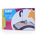 como 2015 ver tv nuevo diseño de cartón corrugado gato scratchers con pluma