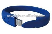 fashion custom hand band usb flash drive, wrist band usb