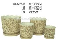 Elegant ceramic flower pot and planter