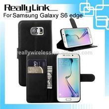 For Samsung galaxy S6 edge leather case/flip case/wallet case