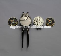 2015 cheap golf gift sets- magnetic divot tool hat clip ball marker