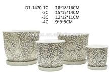 Craft ceramic flower pot as holder