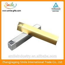 Custom logo simple design specular metal gas lighter