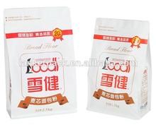 Bread Flour Packaging Bag With Zipper , Powder Packaging Bag
