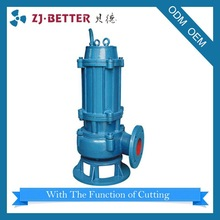 Hot sales good quality 30hp WQK sewage and feces pump cutting submersible dirty water pump high pressure pump company