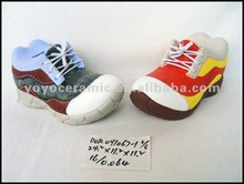 ceramic sports shoes coin bank for promotional gifts