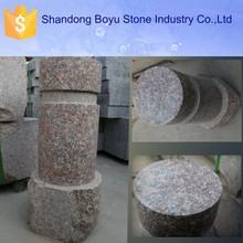 stone pillar , red granite