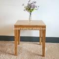petit carré de thé table en bambou
