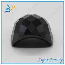 wholesale black half moon zircon gemstone for clothes