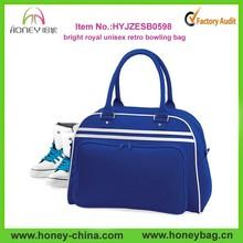 2015 bright royal unisex retro bowling bag handbag gym sport duffel bag