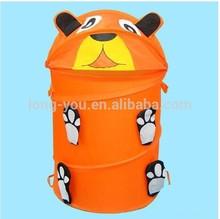 Cute animal shape folding pop up laundry hamper foldable laundry basket storage container
