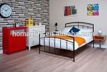 European style black double metal bed design furniture DB-4739