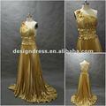 de alta calidad con volantes de oro para los patrones de vestidos de las damas de honor lw141